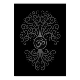Árbol gris de OM en negro Plantillas De Tarjetas De Visita