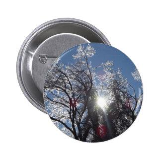 Árbol helado en invierno pin