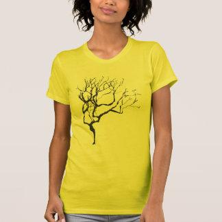 Árbol hivernal de moda de la naturaleza camisetas