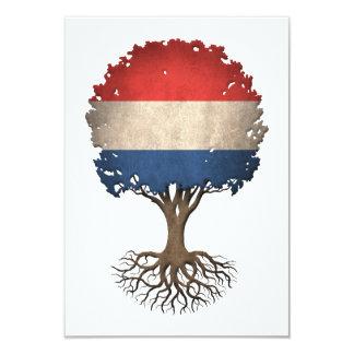 """Árbol holandés de la bandera del personalizable de invitación 3.5"""" x 5"""""""