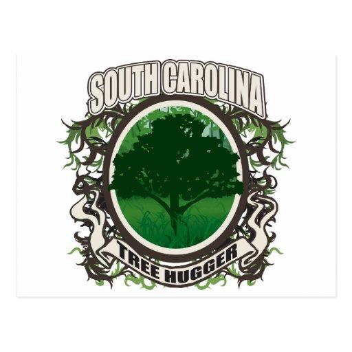 Árbol Hugger Carolina del Sur Tarjeta Postal