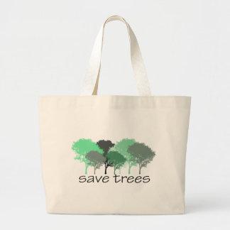 ¡Árbol Hugger! ¡Diseño lindo de los árboles! Ecolo Bolsa Tela Grande