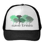¡Árbol Hugger! ¡Diseño lindo de los árboles! Ecolo Gorro De Camionero