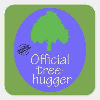 Árbol-Hugger oficial Colcomanias Cuadradass