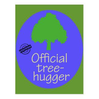 Árbol-Hugger oficial Tarjetas Postales