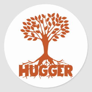 Árbol Hugger Pegatina Redonda