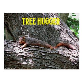 ¡Árbol Hugger! Tarjeta Postal