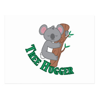 Árbol Hugger Tarjetas Postales