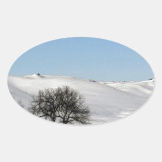 Árbol Icey Snowscape Etiqueta