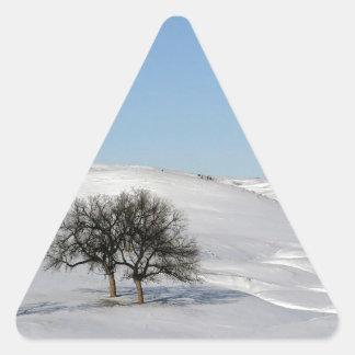 Árbol Icey Snowscape Pegatinas Trianguladas