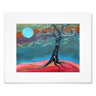 Árbol iluminado por la luna - árbol en claro de fotografías
