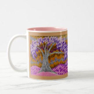 Árbol invertido, Burchfield Styl del estilo de Taza De Café De Dos Colores