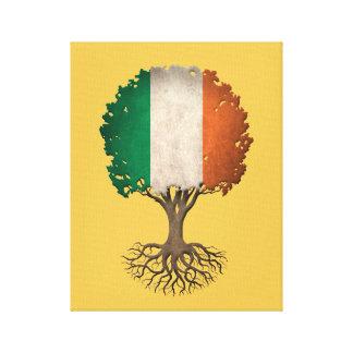 Árbol irlandés de la bandera del personalizable de impresion en lona