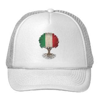 Árbol italiano de la bandera del personalizable de gorros bordados