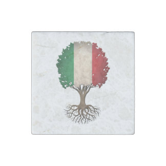 Árbol italiano de la bandera del personalizable de imán de piedra