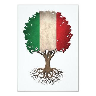 """Árbol italiano de la bandera del personalizable de invitación 3.5"""" x 5"""""""