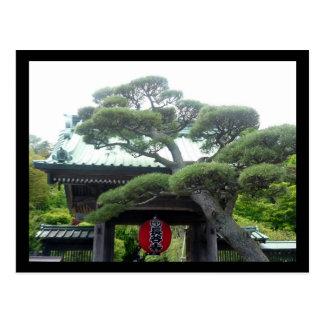árbol japonés tarjeta postal