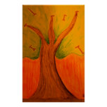 Árbol joven solitario poster