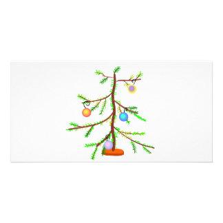 Árbol larguirucho tarjeta con foto personalizada