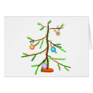 Árbol larguirucho tarjeta de felicitación