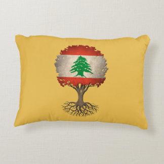 Árbol libanés de la bandera del personalizable de