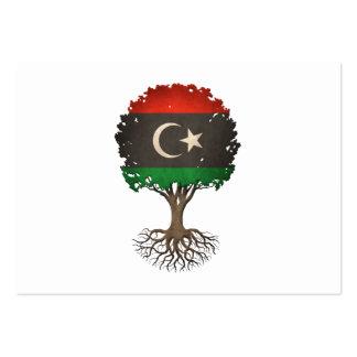Árbol libio de la bandera del personalizable de la tarjetas de visita grandes