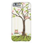 Árbol lindo caprichoso de los búhos de los funda de iPhone 6 barely there