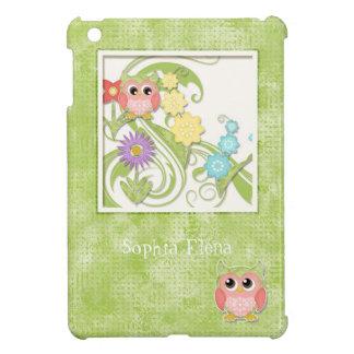 Árbol lindo caprichoso de los búhos de los remolin iPad mini fundas