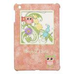 Árbol lindo caprichoso de los búhos de los remolin iPad mini carcasas