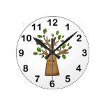 árbol lindo reloj de pared