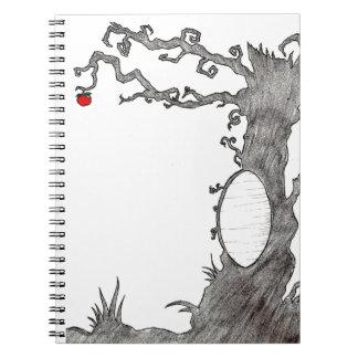 Árbol mágico blanco como la nieve note book