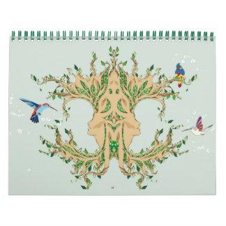 Árbol mágico calendarios de pared
