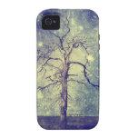 Árbol mágico del universo iPhone 4 carcasa