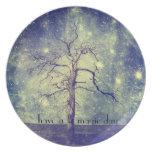 Árbol mágico del universo platos para fiestas