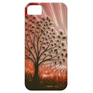 Árbol metálico de la puesta del sol en The Sun iPhone 5 Case-Mate Protector