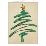 Árbol metálico Swished de Navidad del verde Tarjeta De Felicitación