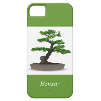 Árbol miniatura japonés de los bonsais con los iPhone 5 funda