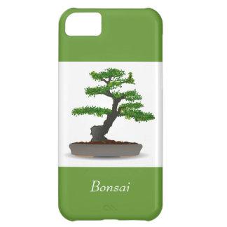 Árbol miniatura japonés de los bonsais con los pun funda iPhone 5C