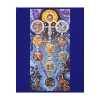 Árbol místico del arte envuelto de la lona de la v impresiones en lienzo estiradas