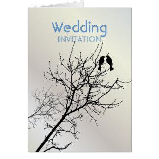 Árbol moderno WeddingFavor de los LoveBirds de la Felicitación