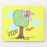 Árbol Mousepad (amarillo) de la esperanza Alfombrilla De Raton