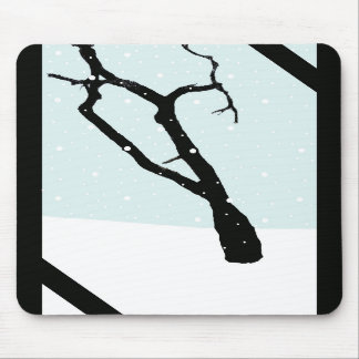 Árbol Mousepad del invierno Tapetes De Ratón