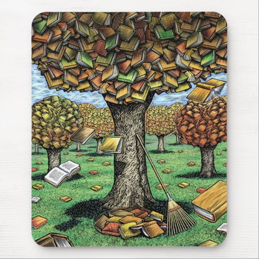 Árbol Mousepad del libro Tapete De Raton