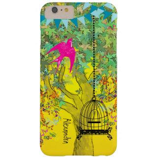 Árbol musical colorido del Birdcage caprichoso del Funda Para iPhone 6 Plus Barely There