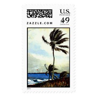 """Árbol-Nassau' de la palma Timbre Postal"