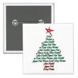 Árbol natal de Feliz de la tarjeta multilingue de  Pins