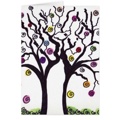 Árbol, naturaleza, 'Tree banal Tarjeta De Felicitación