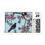 Árbol negro de la flor de cerezo del pájaro envio