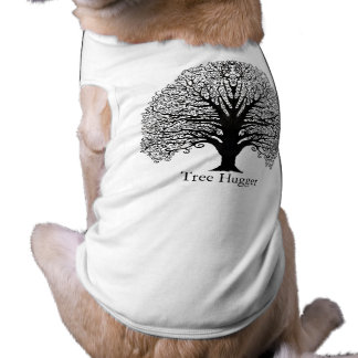Árbol negro del remolino camiseta de perrito