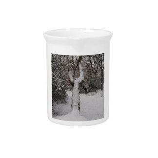 Árbol nevado en el bosque de Epping Jarrón
